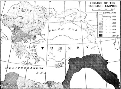 Decline of the Turkish Empire