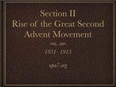 The Rise of the Great Second Advent Movement