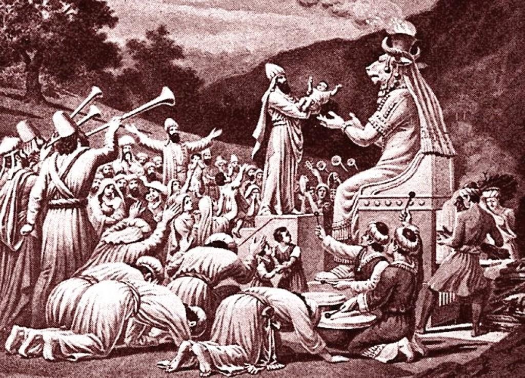 Moloch-child-sacrifice